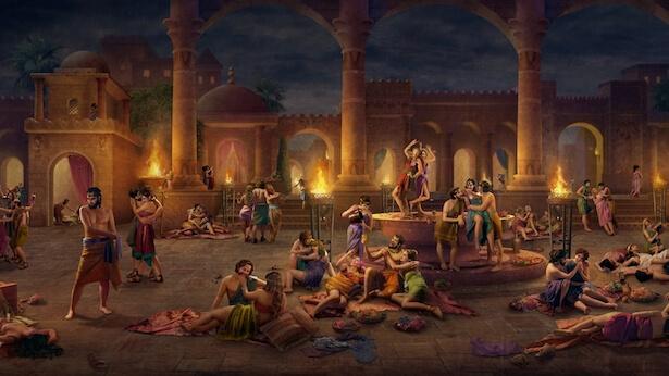 la gente de Sodoma era malvada, promiscua y corrupta, y que la ciudad rebosaba tal sed de sangre y muerte que la gente incluso quería matar a los ángeles.