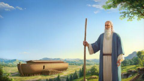 Dio intende distruggere il mondo con un diluvio, ordina a Noè di costruire un'arca