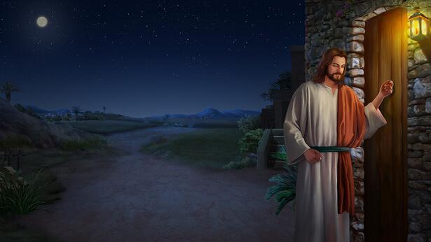 il Signore bussando la porta