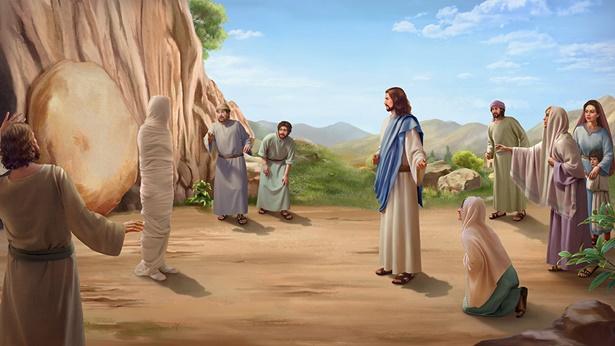 il Signore Gesu' fatto i miracoli rende Lazzaro rivivere