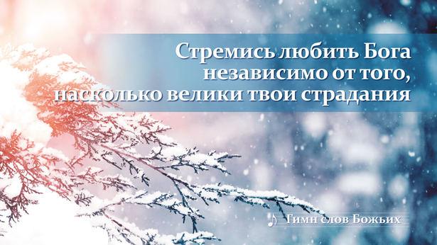 Стремись любить Бога независимо от того, насколько велики твои страдания