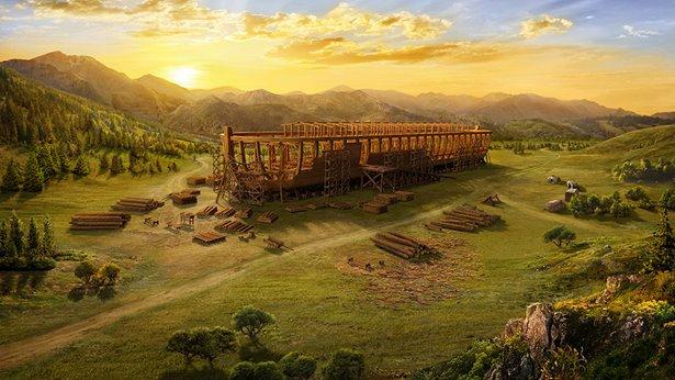 наставляет Ноя построить ковчег