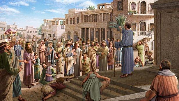 Ниневитяне узнают о предупреждении Бога Иеговы