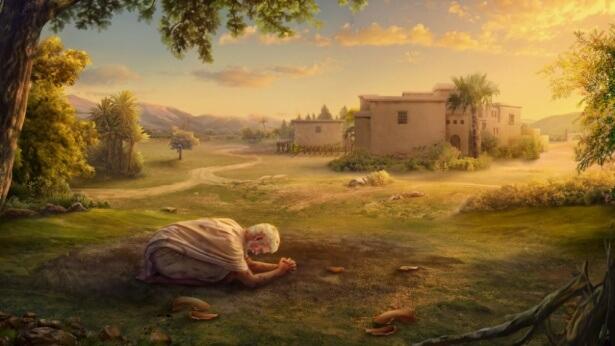 Сатана вновь искушает Иова (лютая проказа покрывает всё тело Иова)