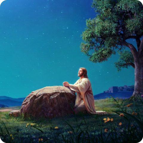 主耶稣在客西马尼园中抬头祷告