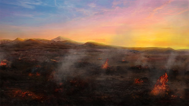 所多玛城被火烧的只剩下灰烬