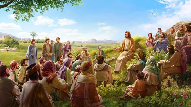 主耶稣在人中间讲道
