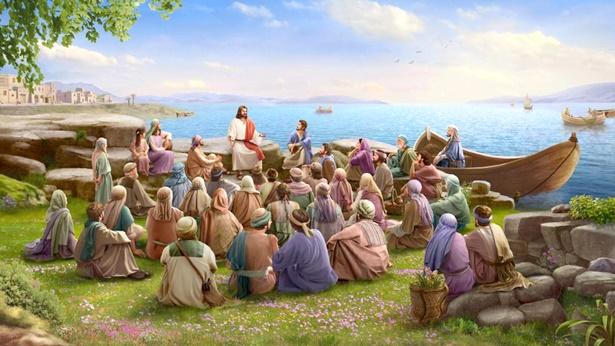 主耶稣在海边讲道