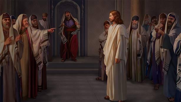 法利赛人定罪主耶稣