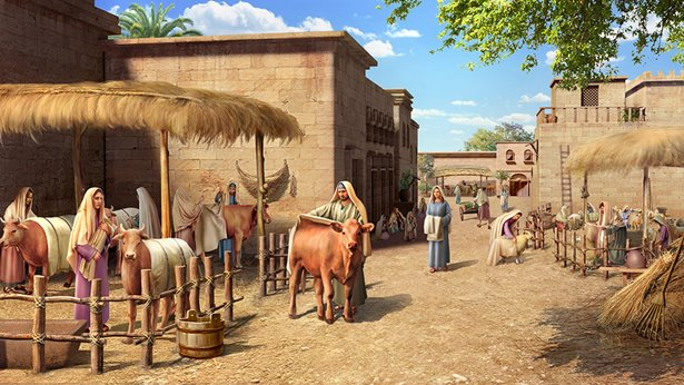 尼尼微人为牲畜披麻布