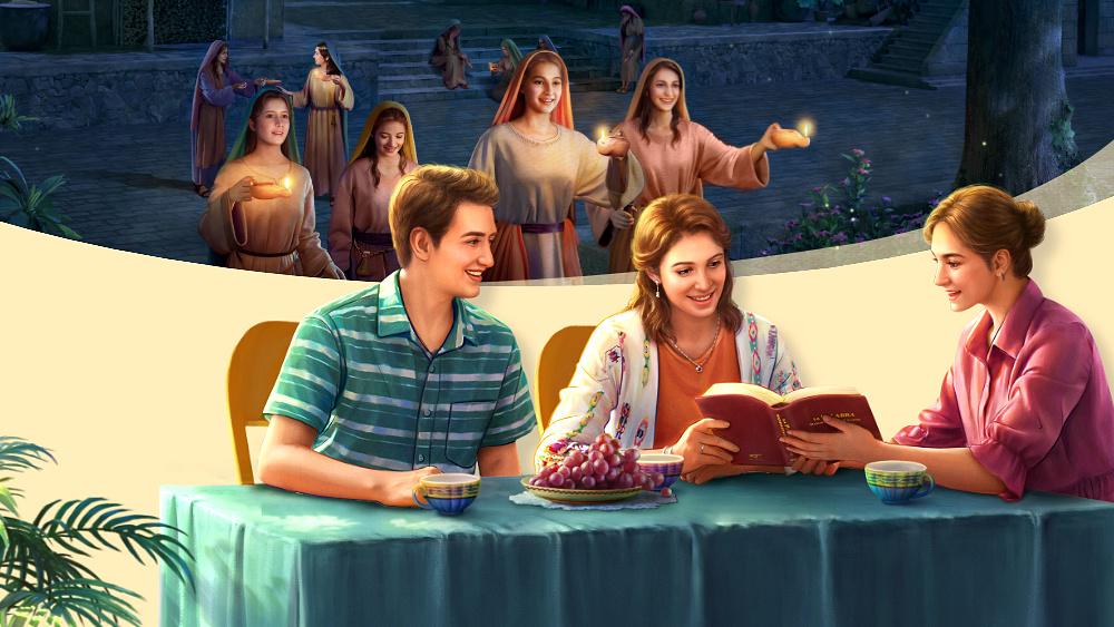 聰明童女就是預備油儆醒等候主來,最終迎接到了主,赴上天國的筵席