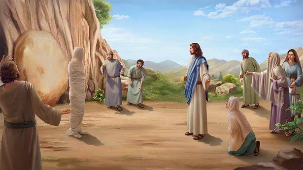 主耶稣让拉撒路复活