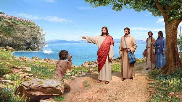 主耶稣把鬼赶到猪群