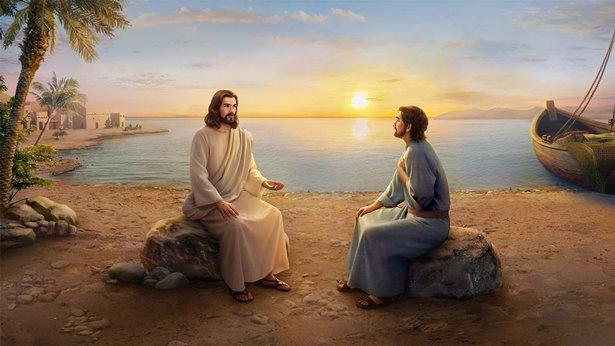 主耶稣复活显现向彼得问话