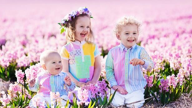 三个可爱的孩子